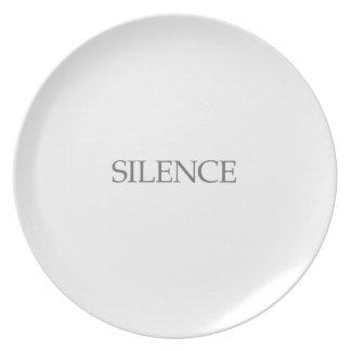 SILENCE PLATE