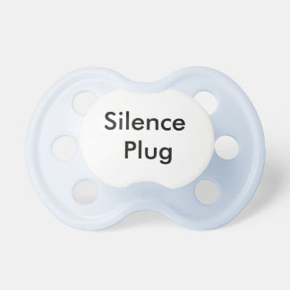 Silence Plug Pacifiers