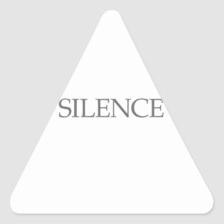 SILENCE TRIANGLE STICKER
