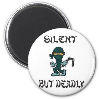 silent but deadly Ninja Fart 6 Cm Round Magnet
