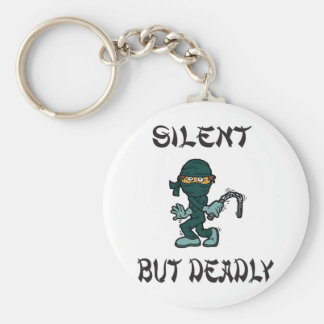 silent but deadly Ninja Fart Basic Round Button Key Ring
