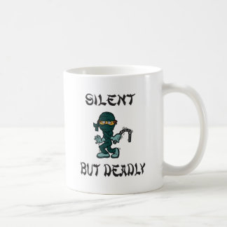 silent but deadly Ninja Fart Classic White Coffee Mug