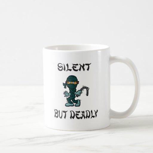 silent but deadly Ninja Fart Coffee Mugs