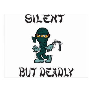 silent but deadly Ninja Fart Postcard
