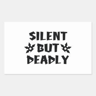 Silent But Deadly Rectangular Sticker