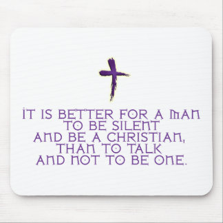 Silent Christian Mouse Pad
