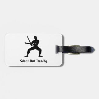 Silent Deadly Ninja Bag Tags