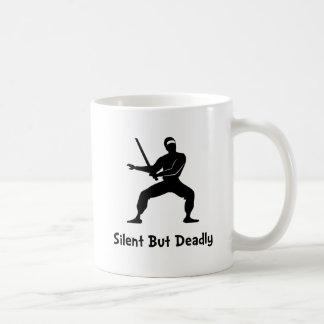 Silent Deadly Ninja Basic White Mug