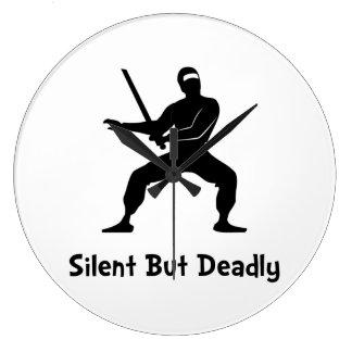 Silent Deadly Ninja Clock