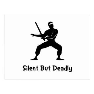 Silent Deadly Ninja Postcard