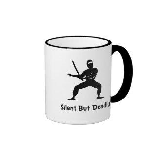 Silent Deadly Ninja Ringer Mug
