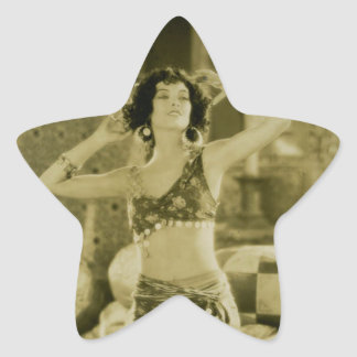 Silent Film Era Beauty Sterevoview Card Star Sticker