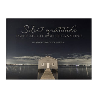 Silent Gratitude Acrylic Print