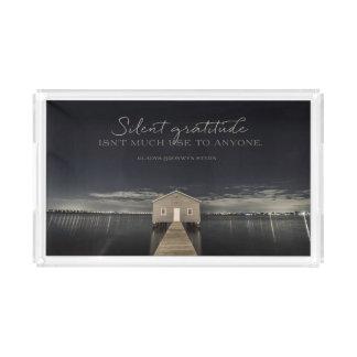 Silent Gratitude Acrylic Tray