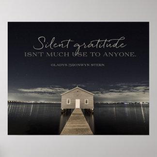 Silent Gratitude Poster