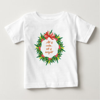 Silent Holy Night Calm Bright Christmas Carol Desi Baby T-Shirt