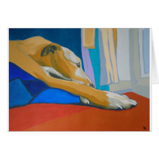 'Silent Longing' - Yellow lurcher Card