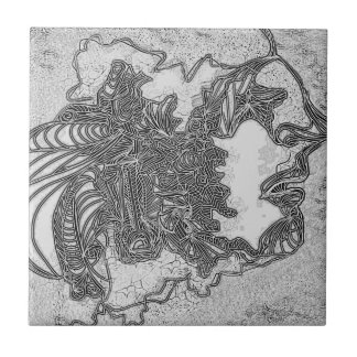 Silent Man Small Square Tile
