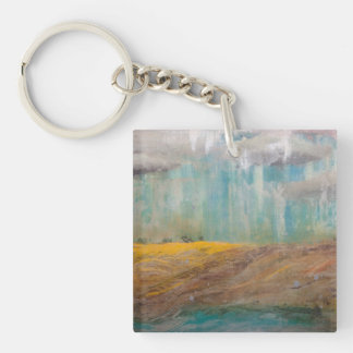 Silent Meadow Single-Sided Square Acrylic Key Ring