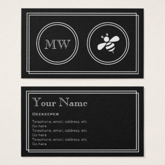 """Silent Movie"" Beekeeper Business Cards"
