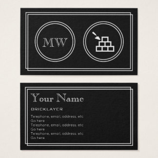 """""""Silent Movie"""" Bricklayer Business Cards"""