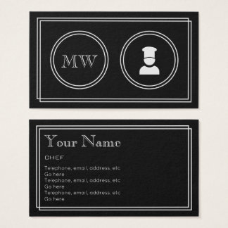 """Silent Movie"" Chef Business Cards"