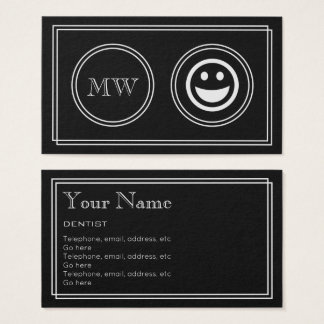 """Silent Movie"" Dentist Business Cards"
