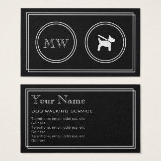 """""""Silent Movie"""" Dog Walker Business Cards"""