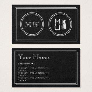 """""""Silent Movie"""" Dressmaker Business Cards"""