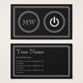 """Silent Movie"" Electrician Business Cards"