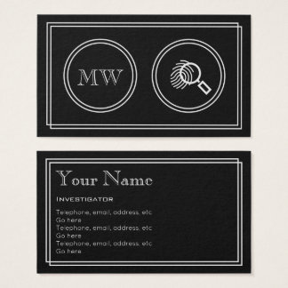 """Silent Movie"" Investigator Business Cards"