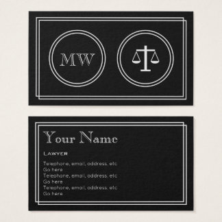 """Silent Movie"" Lawyer Business Cards"
