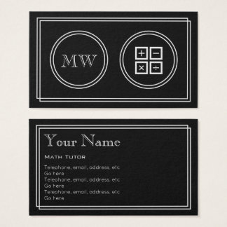 """Silent Movie"" Math Tutor Business Cards"