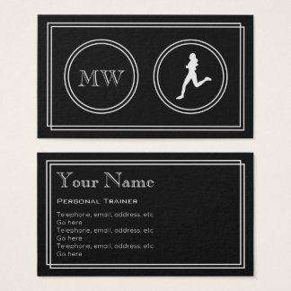 """Silent Movie"" Personal Trainer Business Cards"