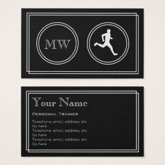 """""""Silent Movie"""" Personal Trainer Business Cards"""