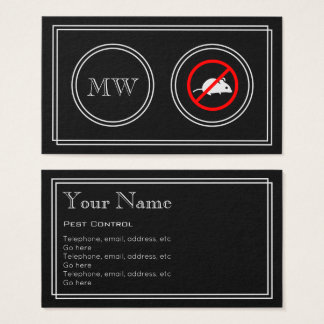 """Silent Movie"" Pest Control Business Cards"