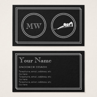 """Silent Movie"" Snooker Business Cards"