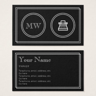 """Silent Movie"" Writer Business Cards"