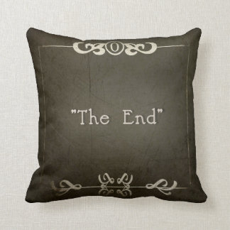 """SILENT MOVIES PILLOW """"The End"""""""