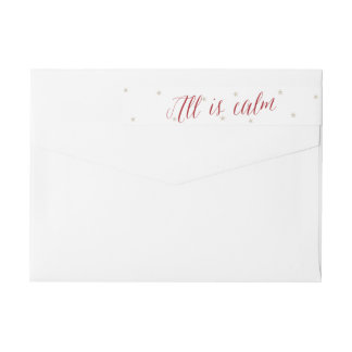 Silent Night All is Calm Christmas Wraparound Return Address Label