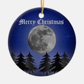 SILENT NIGHT CERAMIC ORNAMENT