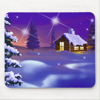 Silent Night Christmas Gift Mousepad Mousepad