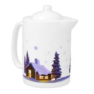 Silent Night. Christmas Gift Teapot