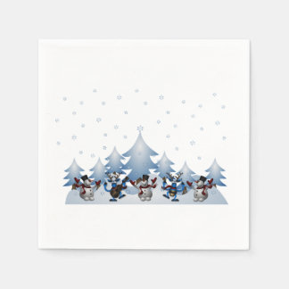 Silent Night? Christmas Party Paper Napkins