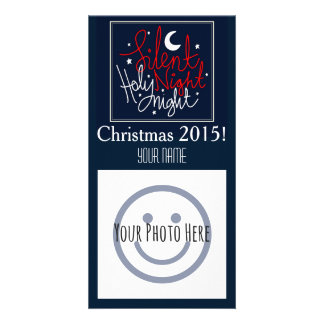 Silent Night Christmas Photo Card