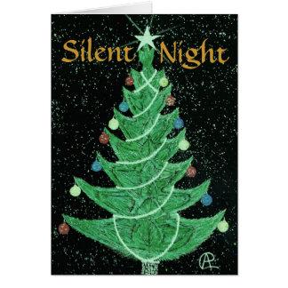 Silent Night-Christmas Tree Card