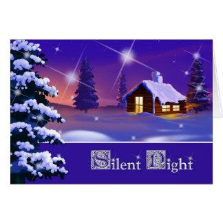 Silent Night. Customizable Christmas Card