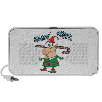 silent night elf ear candy cane stuffed humor notebook speaker