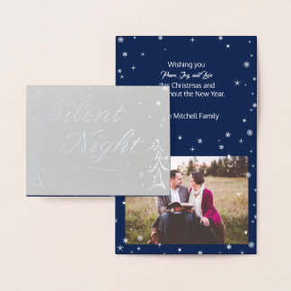 Silent Night Foil Christmas Card