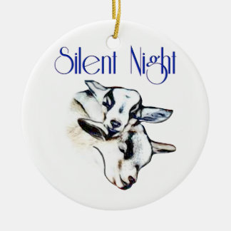 Silent Night Goat Christmas Ornament